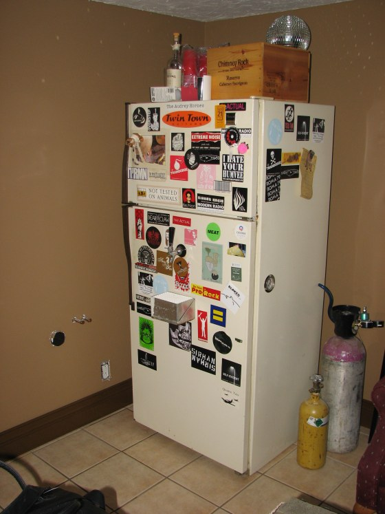Beer fridge.